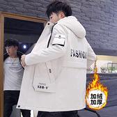 保暖男生中長加絨外套 男士寬鬆棉夾克冬裝 韓版加厚羽絨外套 男個性百搭秋冬棉服潮流時尚外套