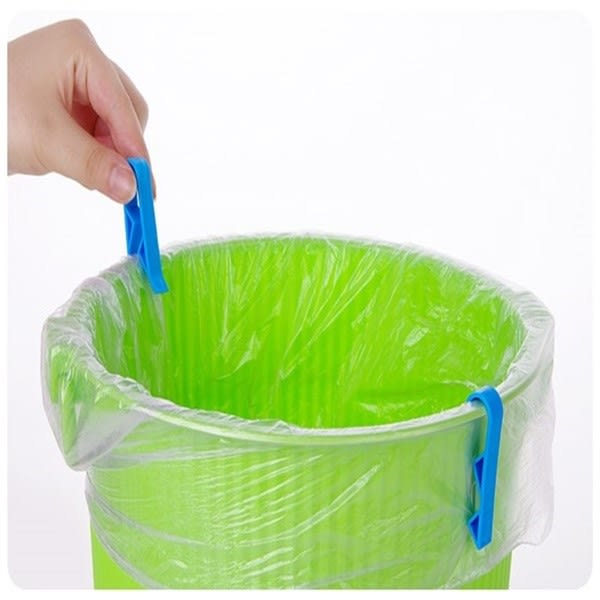 【垃圾桶夾子2枚入】家居垃圾桶固定器 固定夾 垃圾袋夾 垃圾夾 防滑夾
