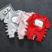 新春狂歡 嬰兒衣服夏裝新生兒春裝連體衣男女寶寶0-3-6個月爬服哈衣包屁衣