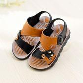 夏季防滑大童學生男童涼鞋兒童沙灘鞋小童中童鞋男孩寶寶涼鞋小孩