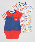 Hallmark Babies 竹纖維短袖包屁衣及短袖連身衣-小小玩具車 (兩件裝) HC1-B08-02-BB-PR