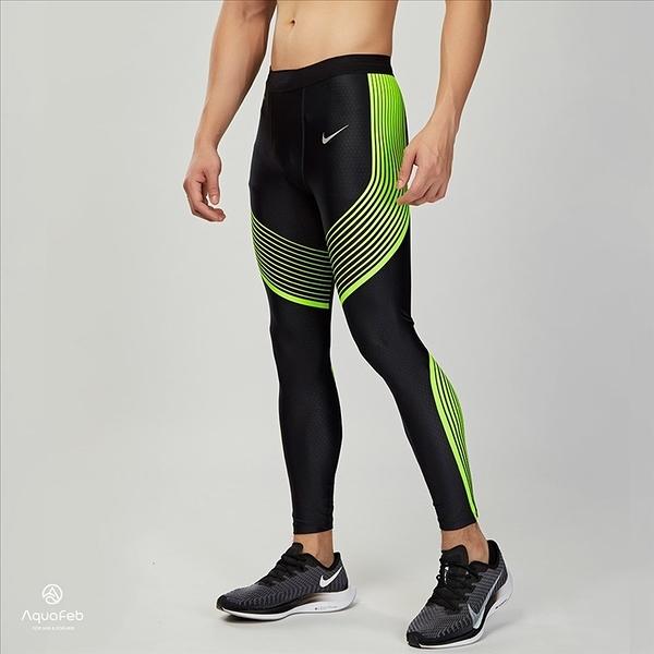 Nike Power Speed Tight 男子 黑黃 專業 跑步 緊身褲 717751-023