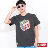 CHUMS 日本 男 涼感輕量綿 短袖T恤 Cube魔術方塊 熔岩灰 CH011039G006