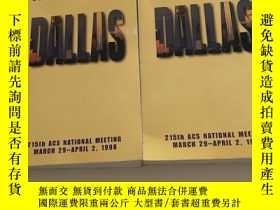二手書博民逛書店Books罕見of Abstracts 215th ACS Na