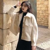 赫本風棉服女秋冬裝新款洋氣網紅復古小個子毛絨加厚棉衣外套 雅楓居