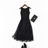 9折起 新品夏新款吊帶大碼蕾絲打底裙內搭寬鬆背心裙莫代爾網紗連身裙