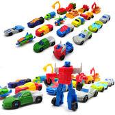 迷你小變形玩具汽車人經典小金剛套裝機器人模型手動變形小汽車人  露露日記