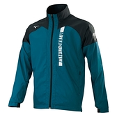 MIZUNO 男裝 外套 套裝 立領 夾克 防風 防潑水 刷毛 保暖 拉鍊口袋 綠【運動世界】32TE158232