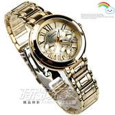 SHEEN SHE-3034GD-9A羅馬數字鑽錶 施華洛世奇 金色 女錶 日期星期顯示 SHE-3034GD-9AUDR CASIO卡西歐