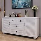 斗櫃美式實木色裝飾櫃臥室收納儲物北歐客廳高電視櫃靠墻斗櫃櫥LX coco