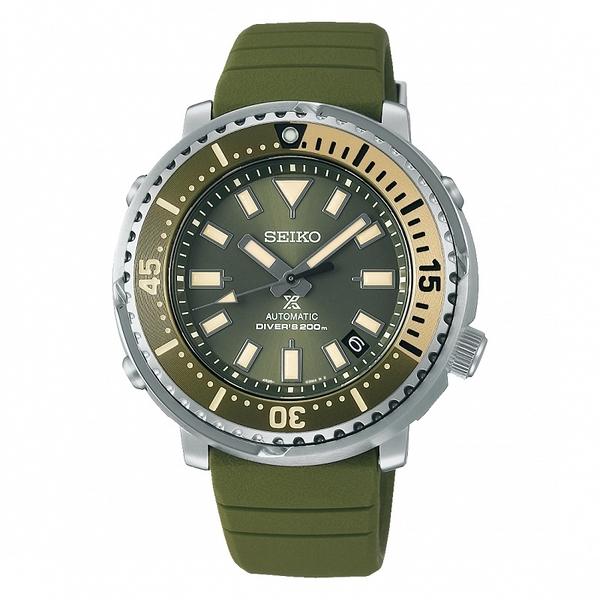 SEIKO 精工 PROSPEX 200米潛水機械錶 SRPF83K1_4R35-04L0G 軍綠