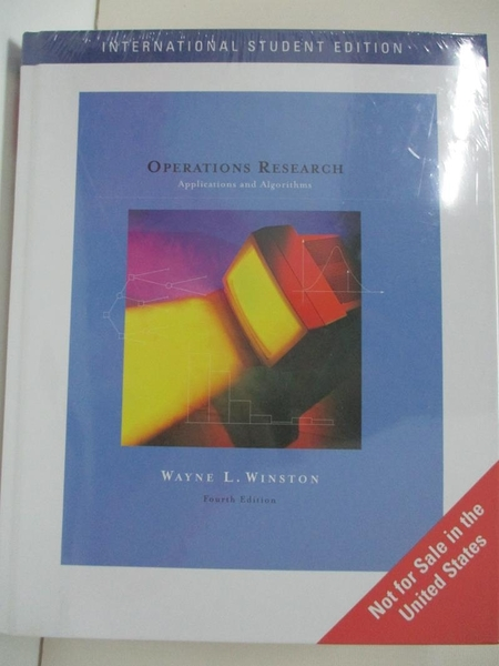 【書寶二手書T2/大學理工醫_I4P】Operations Research 4/e_Winston