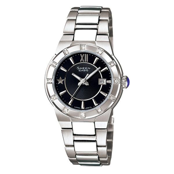 CASIO SHEEN系列 耀眼典藏都會時尚腕錶(黑)