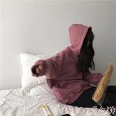 衛衣ins超火衛衣女秋冬新款chic加厚連帽外套韓版潮學生寬鬆上衣 春季上新