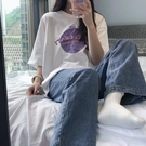 2021夏季寬鬆韓版ulzzang新款上衣女百搭學院風純棉短袖T恤ins潮『潮流世家』