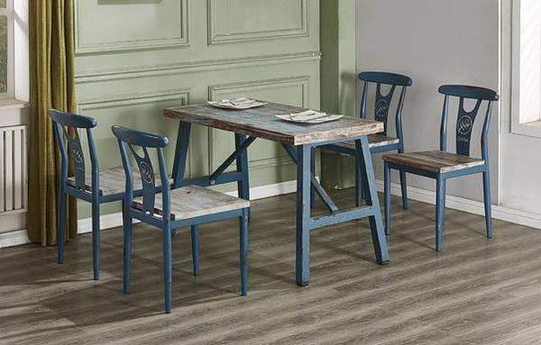 【IS空間美學】勝利 4 尺仿舊實木餐桌(2018-Q-466-1)