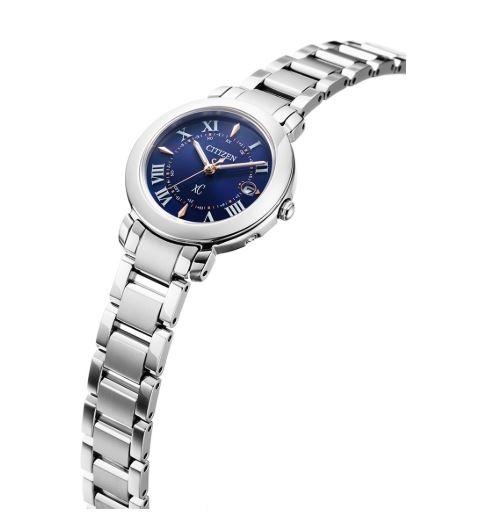 CITIZEN星辰 Eco-Drive  限量商品 深邃藍光動能電波鈦金屬腕錶 ES9440-51L 藍X銀