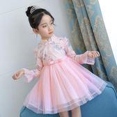 女童禮服3兒童演出4寶寶旗袍舞蹈5女孩6歲純棉公主連衣裙夏季 IV2375【大呎碼女王】