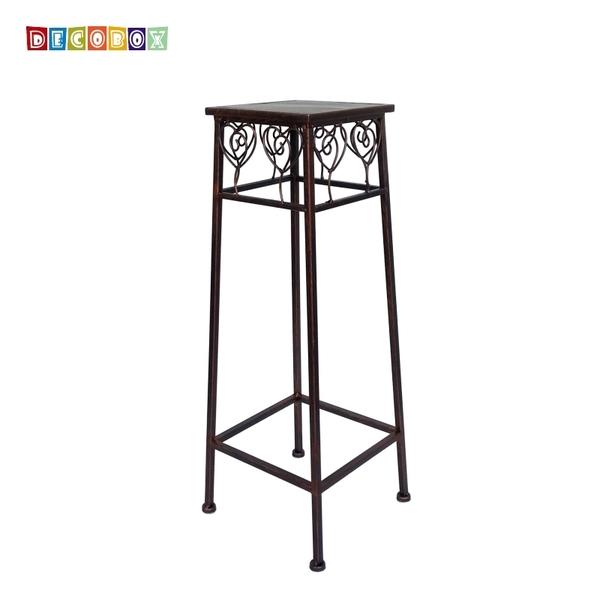 DecoBox心語古銅方形小花架 (多肉花架,羅馬柱,走道花鐵架,展示架)