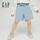 Gap女童 甜美棉質繫帶短褲 670300-淺色水洗