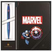CROSS TECH2 MARVEL COLLECTION 兩用原子筆+筆記本 美國隊長~限量版禮盒組