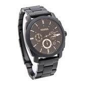 FOSSIL (FS4682) 時尚 三眼計時 男錶 手錶 黑/咖啡面/45mm