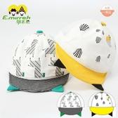 嬰幼兒帽子軟帽檐鴨舌帽夏季可愛男童遮陽帽寶寶網眼棒球帽0-4歲