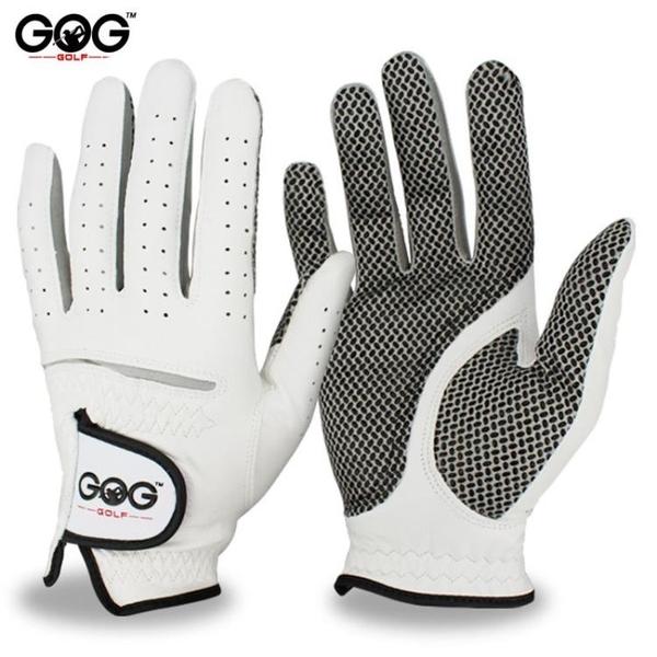 高爾夫球防滑手套印尼小羊皮舒適運動透氣男士雙手 快速出貨