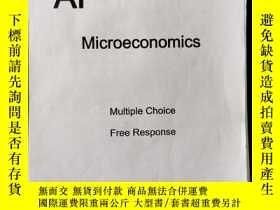 二手書博民逛書店AP罕見Microeconomics multiple choice free responseY392713