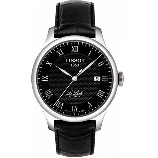 TISSOT 天梭 Le Locle 力洛克圖騰紋機械錶-黑 T41142353