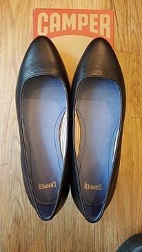 美國 CAMPER 黑色皮鞋 樂福鞋 厚底鞋