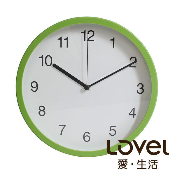 Lovel 25cm摩登膠框靜音時鐘-草木綠(P250-GN)