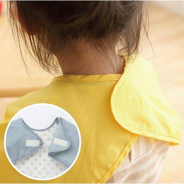 大尺碼(1-3Y)防水圍兜 副食品學習餐具必搭 兒童圍兜 雙層防水 反穿衣 吃飯衣 畫畫衣【JC0027】