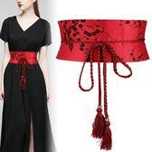 裝飾布腰帶女士繫帶寬腰封綁帶束腰百搭配連身裙子襯衫漢服簡約潮