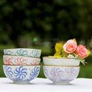 和風陶瓷套裝  五彩菊花碗