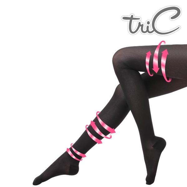 【醫碩科技】Tric 200Den 台灣製造 包趾壓力褲襪(黑/膚) 一雙