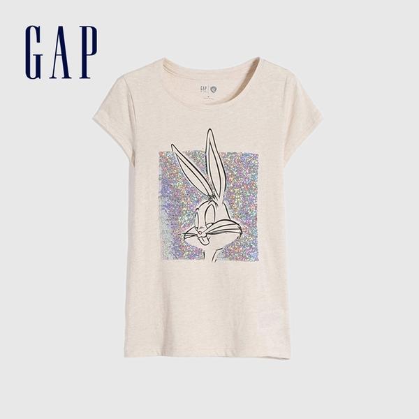 Gap女童 Gap x Warner Bros合作系列雙面亮片短袖T恤 730975-燕麥色