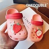 洞洞鞋男童女童涼拖鞋夏兒童防滑嬰幼兒1-3歲2可愛軟底包頭鞋小童  快速出貨