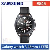 【1月限時促】Samsung Galaxy watch 3 【送原廠運動錶帶+鋼貼+原廠皮革錶帶】 R845 智慧手錶 45mm LTE版