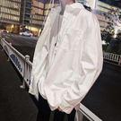 薄款外套 長袖襯衫男INS潮男外套寬松百搭潮流帥氣上衣心機襯衫設計感襯衣