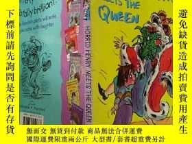 二手書博民逛書店HORRID罕見HENRY MEETS THE QUEEN:可怕的亨利遇見了女王…Y200392