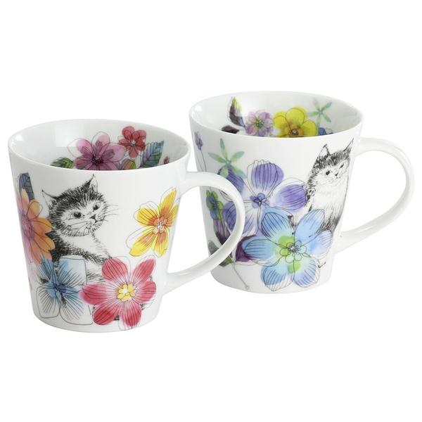 【日本製】 烏拉拉貓系列 白瓷馬克杯對杯組(一組:24個) SD-6519-24 - 日本製 烏拉拉貓系列