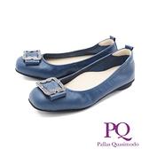 PQ (女) 圓頭方釦娃娃鞋 女鞋 -藍(另有黑)