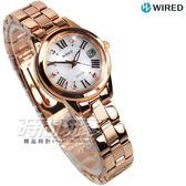 WIRED f 情人節限定 太陽能Solar 羅馬晶鑽 白蝶貝錶盤 玫瑰金電鍍 女錶 AGED709J V137-0CF0K