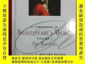 二手書博民逛書店A罕見Companion to Shakespeare s Wo