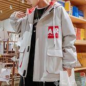 新款春秋男士工裝外套潮牌ins韓版潮流寬鬆休閒學生夾克男裝
