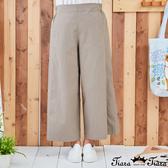 【Tiara Tiara】百貨同步新品aw 鬆緊腰純色寬版長褲(藍/綠/卡其)
