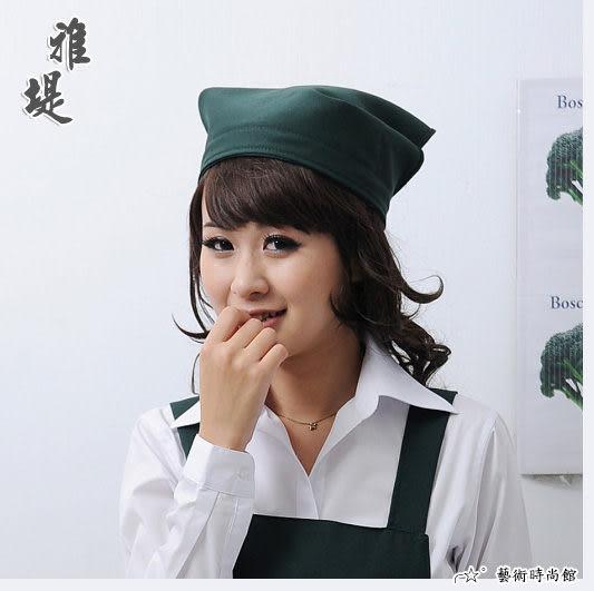【T-04C】日式工作頭巾(墨綠)-餐廳 廚房 園藝 工作業務專用