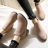 粗跟靴 新款馬丁靴英倫風粗跟切爾西靴子小短靴女春秋單靴高跟鞋冬季 唯伊時尚