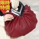 手提包-質感皺褶精美設計側背女包包4色6...